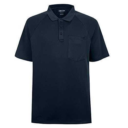 MOHEEN Herren Poloshirt/Funktionsshirt Mit Brusttasche in Übergrößen L bis 6XL - für Sport Freizeit und Arbeit (6XL,Navy)