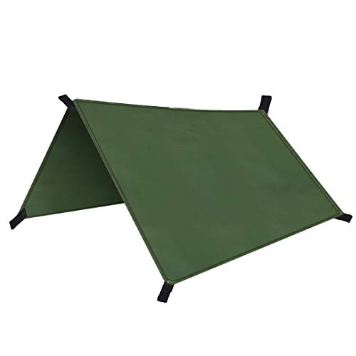 Rehomy Wasserdichtes Zelt Tragbare Leichte Regenplane UV-Schutz Fliegenzelt Schutz Plane für Campingreisen im Freien