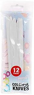 سكينة بلاستيك من مينترا،عبوة 12 - أبيض