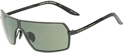 Porsche Design P8491 Shiny Black / Green + Set Of Grey Gradient Lenses Titangestell Sonnenbrillen