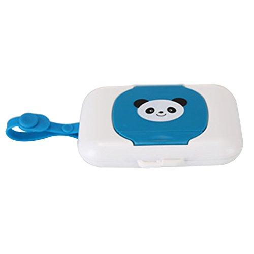 HENGSONG Tragbare Baby Outdoor Reise Feuchttuch Box für Kinderwagen Babybett (Blau)