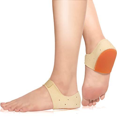 HELLCUP Heel Cups - Plantar Fasciitis Inserts - Heel Cushion Inserts for Heel Pain, Heel Spur, Cracked Heels, Achilles Tendonitis, Heel Protectors, Poron Heel Support Seat Wraps, S(W 5-6)