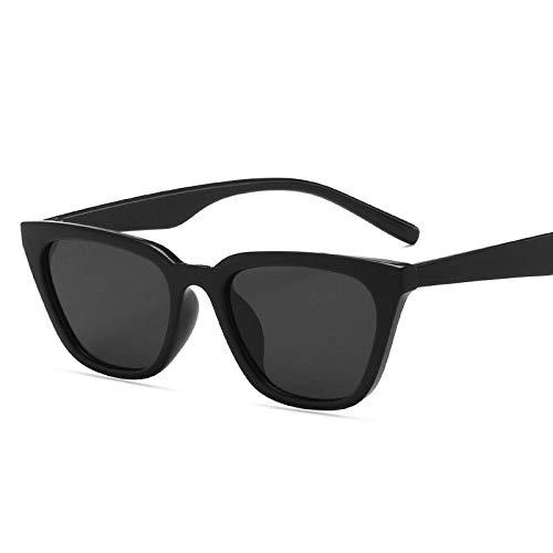NJJX Recién Llegado, Gafas De Sol Clásicas De Ojo De Gato, Gafas Retro Para Mujer, Gafas De Sol Vintage Con Espejo, Marca, Oculos De Sol Feminino, Blackgray