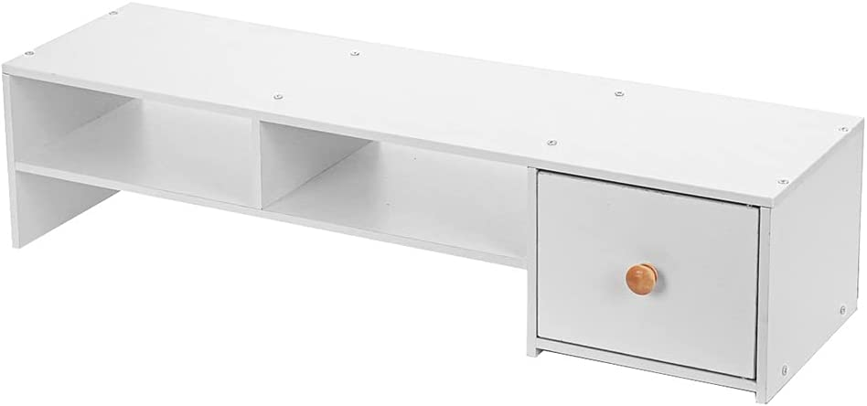 JJWC Computer Monitor Riser Desk Table Challenge the lowest price Miami Mall of Japan ☆ Laptop Shelf Stand Org TV