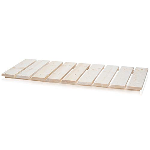 SULENO Sauna Bodenrost ANNA 100 x 46 cm Fichte natur Holzvorleger Badmatte Badvorleger