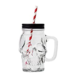 top 10 mainstay mason jars A 16-ounce translucent glass skull masonry jar with a straw lid …