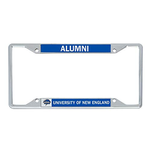Desert Cactus University of New England UNE Nor'Easters NCAA Metal License Plate Frame for Front or Back of Car Officially Licensed (Alumni)