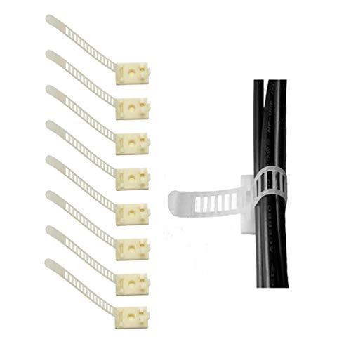 Preisvergleich Produktbild Verstellbare Kabelhalter,  3M Selbstklebende Kabelschellen,  Kabelklemme für Haus,  Bro,  Auto,  PC (20 Stück Schwarz)