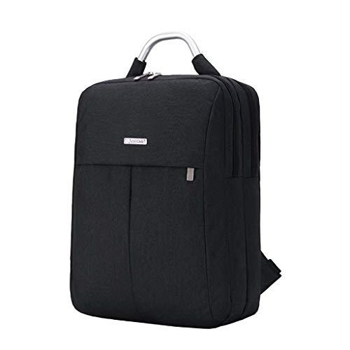 バックパックコンピューターバッグビジネスシンプルな15インチユニセックスコンピューターバッグ(色:黒