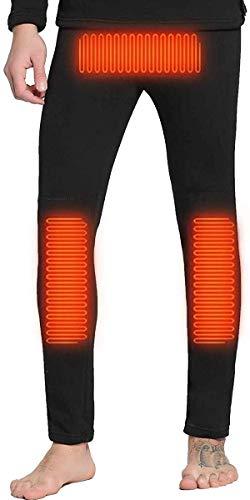 HHJ Pantalones de Invierno con Calefacción para Hombres y Mujeres, Pantalones Térmicos Calefacción de de Fibra de Carbono con Termostato Ajustable de 3 Marchas para Clima Frío al Aire Libre