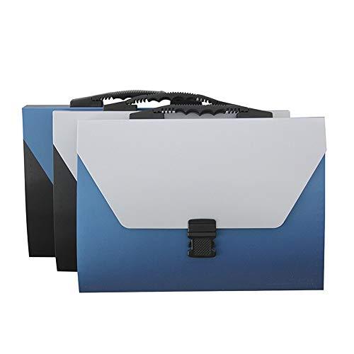 WanuigH-Home File Folder Metall-Art-bewegliche Akkordeon-Tasche Office Bag-Schnalle aus Kunststoff Expanding File Folder Speichern Wichtige Papiere (Farbe : 3 Pieces, Size : 25x33x3cm)