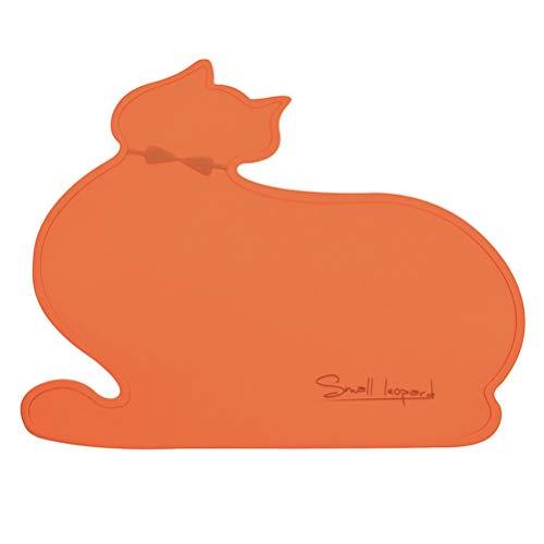 Balacoo Forma de Gato de Silicona Alfombrilla de Alimentación Antideslizante Duradera con Aislamiento Térmico Mantel Mantel para Perros Mascotas Gatos Caseros