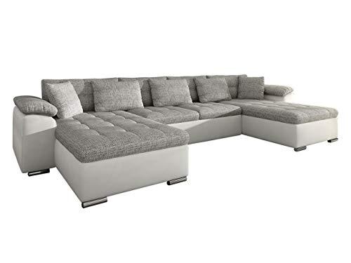 Mirjan24 Ecksofa Wicenza! Design Big Sofa Eckcouch Couch! mit Schlaffunktion Bettfunktion! Wohnlandschaft! U-Form, Große Farbauswahl (Soft 017 + Lawa 05)
