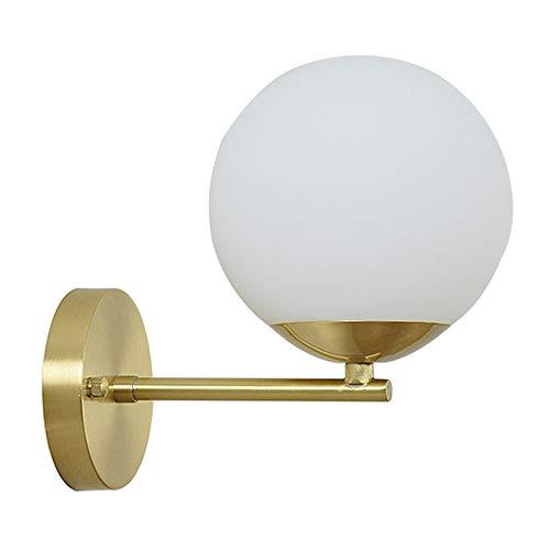 Modo Lighting Mid Century Modern Aplique de pared 1 luz Lámpara de pared minimalista de latón para luz de tocador de dormitorio