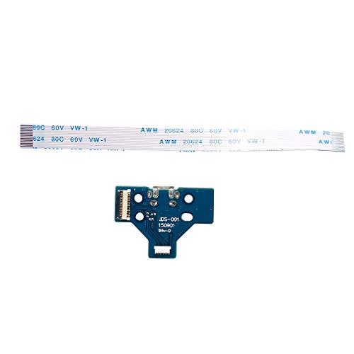 Placa de Puerto de Carga USB 14 Pines JDS-001 para Controlador PS4 Cable Flexible Dualshock Azul Jds-001