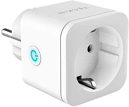 Enchufe Inteligente WiFi TECKIN 16A 3300W Mini Smart Plug Funciona con Siri Amazon Alexa, Echo, Google Home, No se requiere Hub, Función de Temporizador, con Control Aplicaciones en Cualquier lugar