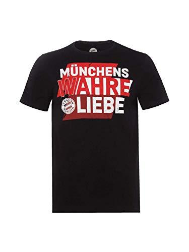 FC Bayern München T-Shirt Münchens wahre Liebe schwarz L