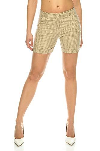 Crazy Age Szorty Chino krótkie spodnie ze streczu, z paskiem, spodenki letnie