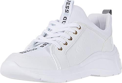 GUESS Speerit Tenis para Mujer, Blanco, 7.5 US