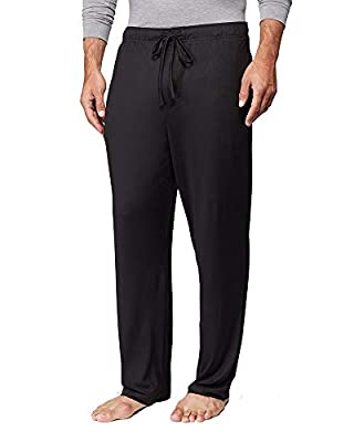 32 DEGREES Mens Cool Knit Wicking Lounge Pant, Black, Large from
