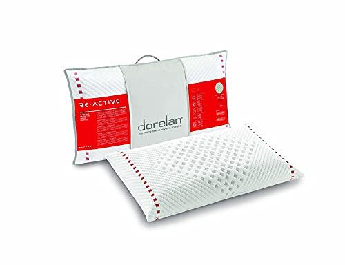 Dorelan Cuscino ReActive (40x70, 13 cm di altezza) in Myform Air, elevata traspirazione, elimina tensioni e infiammazioni dei muscoli della fascia cervicale, sostegno medium