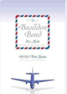 Basildon Bond Air Mail Writing Set Include A5 Blue Sheet Writing Pad & C6 Air Mail Envelopes