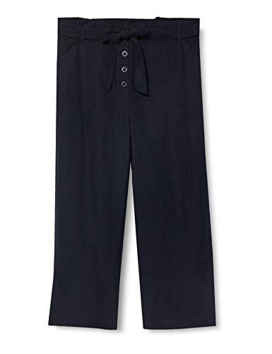 Superdry Eden Linen Trouser Pantalones, Azul (Atlant Navy Gkv), 44 (Talla del Fabricante: 30) para Mujer