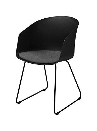 AC Design Furniture Morgen Stuhl, Esszimerstuhl, Sessel, Loungestuhl, Kunstoff, Schwarz, One Size