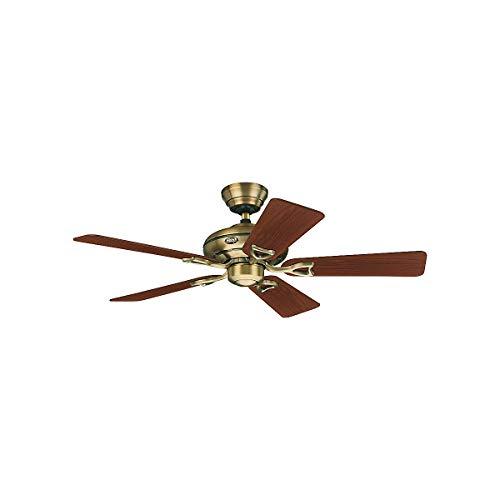 Hunter Deckenventilator SEVILLE II - Rotorblatt-Ø 1120 mm - Nussbaum/Eiche/Messing antik - Deckenventilator Deckenventilatoren Klimagerät Klimageräte Ventilator Ventilatoren