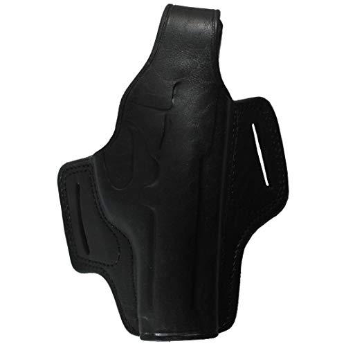 Home CNLXDSB Funda (4 Pulgadas) Panqueques Hechos a Mano Panqueques de Cuero Llevar Dos tragamonedas Thumb Break Pistola Arma de Fuego Funda Herramienta de protección (Color : Black Right Hand)