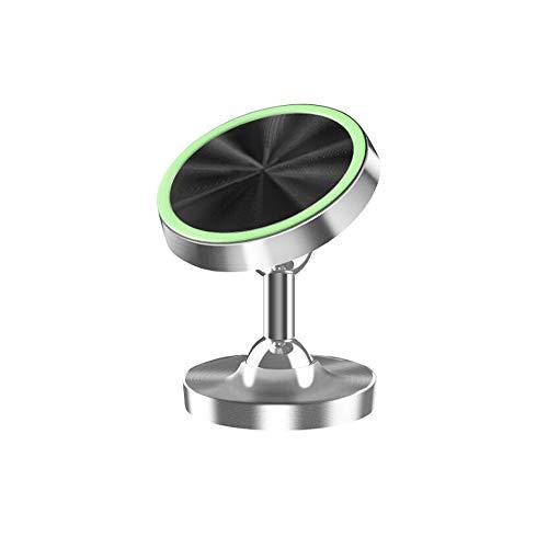 光る車載ホルダー マグネット多機種対応 磁気カーマウントホルダー スマホスタンド(Silver)
