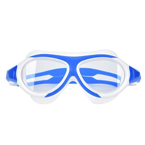 SALUTUYA Niños Gafas de natación Almohadilla de Anillo de Silicona Suave Antiniebla Equipo de baño Unisex(Navy Blue)
