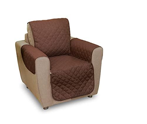 Mediashop Couch Coat braun-beige, Größe S | geeignet für Coach Sessel | Couch Schoner | Das Original aus dem TV