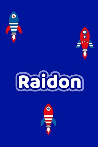 Raidon: Personalisiertes Vornamen Notizbuch / Tagebuch - 120 Seiten - Punkteraster - Format 6x9 ca. DIN A5