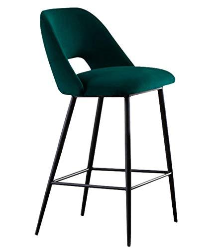 YOJDTD barstoel metalen hoge stoel voorstoel barkruk barstoel donkergroen