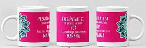 Clapper Taza Frase Motivadora. Taza Regalo Original. Taza Mandala