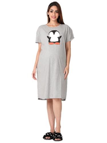 The Mom Store Maternity T-Shirt Dress | Night Dress |...