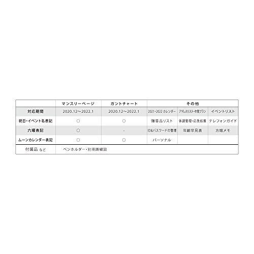 2021年手帳マンスリーガントチャートforWomenダイアリー/ブラウン1000116180