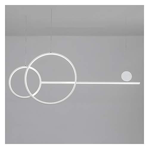 Lámpara de araña, LED regulable, moderna y minimalista, mesa de comedor y oficina de bar, lámpara de diseño de rayas largas (color: C)