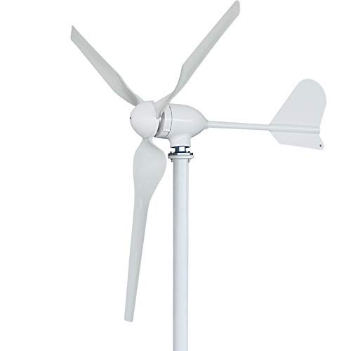 FLTXNY POWER Turbina Eólica 1000W 24V Aerogenerador Horizontal Pequeño Generador de Turbina de Viento 3 Palas con controlador de carga MPPT