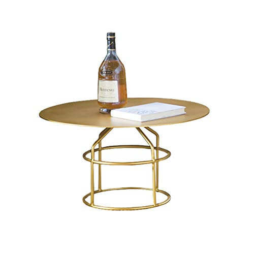 table basse Round Iron art moderne salon simple chevet canapé coin (taille : 60cm*30cm)