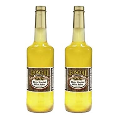 Boscoli Dirty Martini Olive Juice 25 ounce (Pack of 2)