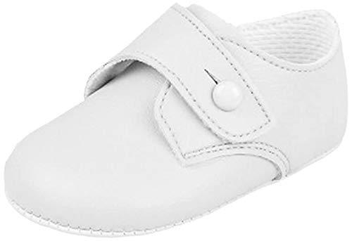 (UK 1 (EU 17 , 3-6 Months), white matt) - BNIB Made in England baby boys Baypod first pram shoes in blue FREE UK POSTAGE