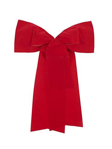 wetterfeste elegante und auffallende große rote Auto Schleife Geschenkschleife 50 mal 60 cm