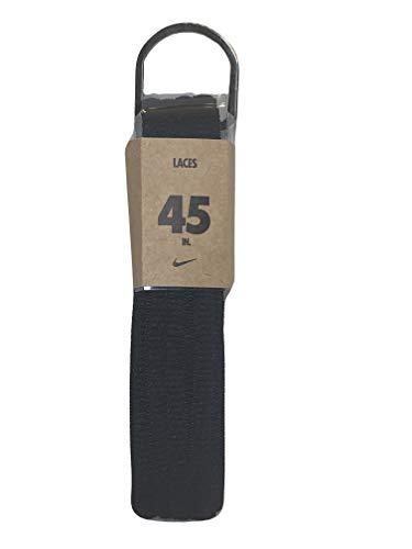Nike Unisex Ersatz Schnürsenkel Oval Schnüren Schnürsenkel (45, sportlich Schwarz)