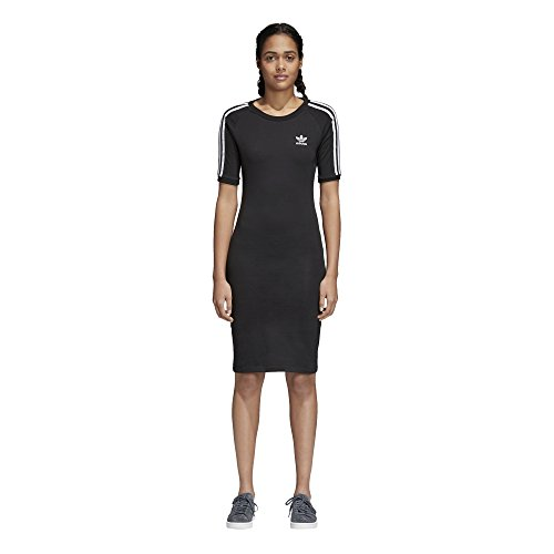 adidas Women's 3 Stripes Dress, Black, XS