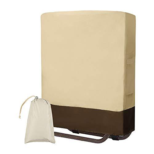 Klappstühle Schutzhülle, Schutzhülle liegestuhl klappbar Liege Abdeckung Gartenstühle Abdeckung Wasserdicht Winddicht UV-Beständiges 210D Oxford Gewebe Schutzhülle mit Aufbewahrungstasche (Weiß)