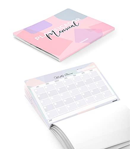 Takenote Agendas - Planificador Mensual Perpetuo Colors - Tamaño A4: 31,5 x 23 cm - 56 hojas - Encolado Inferior