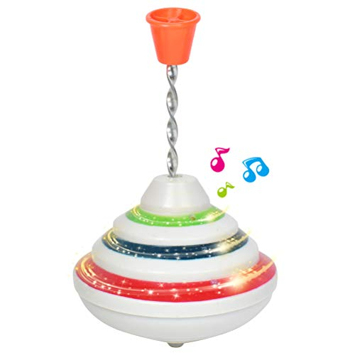 Check Out This Deosdum Push Down Spinning Top Toy with Led and Music Peg-Top Hand Spinning Gyro Toy ...