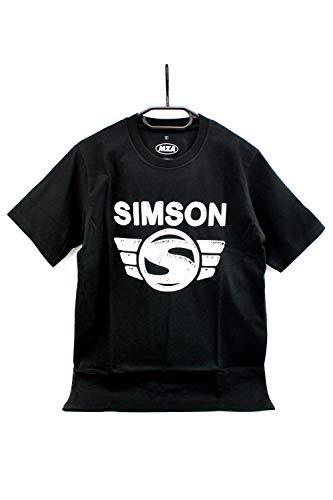 Simson T-Shirt, Shirt in Schwarz 'Simson Logo' aus 100% Baumwolle inkl. Bisomo Sticker, Größe:XS